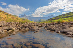 Tugela River and Amphitheatre Royalty Free Stock Photography