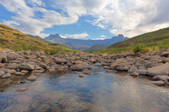 Tugela River and the Amphitheatre Stock Images