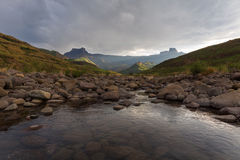 Tugela River and the Amphitheatre Stock Photography