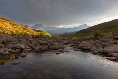 Tugela River and Amphitheatre Stock Images