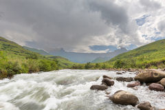 Tugela River and the Amphitheatre Stock Photo