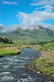 Tugela river and  mountains Royalty Free Stock Photos