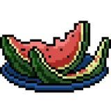 Tugga för vattenmelon för vektorPIXELkonst vektor illustrationer