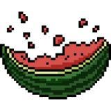 Tugga för vattenmelon för vektorPIXELkonst stock illustrationer
