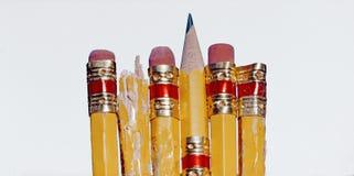 Tuggade blyertspennor Royaltyfri Fotografi