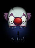 Tuggan av clownen Arkivfoton