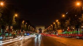 tuggar ljudlig elysees paris Fotografering för Bildbyråer