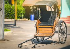 Tugging-cart old antique two-wheel used to receive - send people.  stock photos