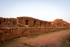 Tughlakabad, Indian Architecture. Remains of the great city of Tughlakabad, a early, yet destroyed city near New Delhi, India Stock Photography