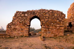 Tughlakabad, Indian Architecture. Remains of the great city of Tughlakabad, a early, yet destroyed city near New Delhi, India Royalty Free Stock Images