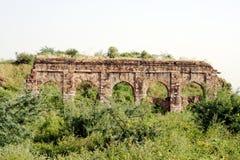 Tughlaqabadfort, New Delhi Stock Afbeeldingen