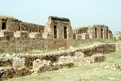 Tughlaqabadfort, New Delhi Royalty-vrije Stock Afbeeldingen