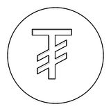 Tugriks currency symbol icon Stock Photos