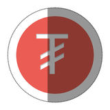 Tugriks currency symbol icon Stock Photography