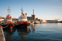 Tugs in port of Piraeus, Athens. Stock Photography