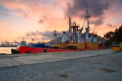 Tugs in port of Piraeus, Athens. Stock Image