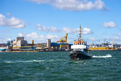 Tugs vessel in the port of Gdynia, Poland. Stock Photo