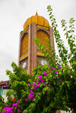 Tugu委员会Negri沙捞越 历史纪念碑时钟,城市民都鲁,婆罗洲,沙捞越,马来西亚 免版税库存图片