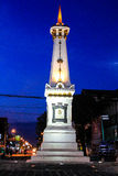 Tugu Jogja. Was built in 1755 by Sri Sultan Hamengkubuwono I, founder of the palace of Yogyakarta, which has a symbolic value and a magical line that connects Royalty Free Stock Photos