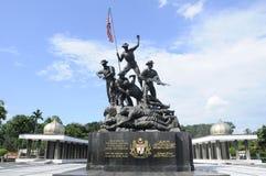 Tugu Negara a K A 国家历史文物在马来西亚 免版税库存照片
