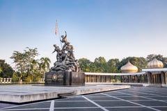 Tugu Negara monument, en populär turist- destination i Kuala Lumpur royaltyfri bild