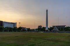 Tugu Pahlawan苏拉巴亚市印度尼西亚 免版税库存图片