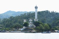 Tugu Trikora on Lembeh Island royalty free stock photo
