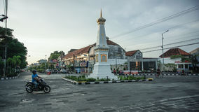 Tugu Yogya. Iconic monument as famous destination for local tourist Stock Image