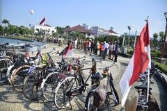 Tugumuda flag ceremony is unique in Semarang Stock Photo