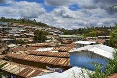 Tugurios de Kibera en Nairobi, Kenia Imagenes de archivo