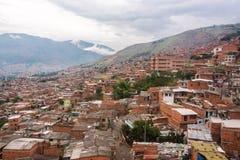 Tugurios de Medellin Imágenes de archivo libres de regalías