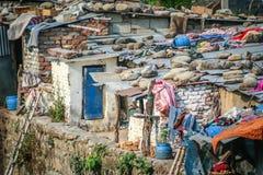 Tugurios del Nepali imagen de archivo libre de regalías