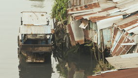 Tugurios en el río saigon Vietnam Visión 8 Foto de archivo libre de regalías