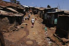 Tugurios en Kenia Imágenes de archivo libres de regalías