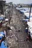 Tugurios en Mumbai Imagen de archivo libre de regalías