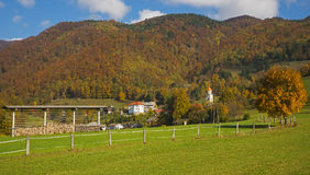 Tuhinj, Kamnik, Словения Стоковые Изображения