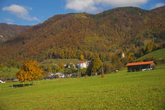 Tuhinj, Kamnik, Eslovênia Imagem de Stock Royalty Free
