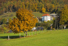 Tuhinj, Kamnik, Eslovenia Fotos de archivo libres de regalías