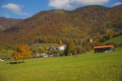 Tuhinj, Kamnik, Eslovenia Imagen de archivo libre de regalías
