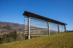 Tuhinjvallei, Slovenië Stock Afbeeldingen