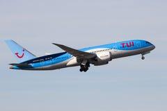 TUI Airlines Boeing 787 Dreamliner nivå Royaltyfri Bild