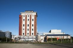 The Tui Brewery, Mangatainoka, New Zealand. This is the old Tui Brewery building tower built in the 1930s. Tui Brewery Mangatainoka Wairarapa North Island New Royalty Free Stock Images