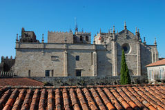Tui cathedral. Santa María cathedral, Tui. Spain (11th–13th century Stock Photography