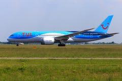 TUI 787 Dreamliner Imagens de Stock