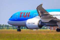 TUI 787 Dreamliner Foto de Stock Royalty Free