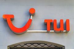 TUI logo na fasadzie Fotografia Royalty Free