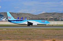 TUI Passenger Flight Lizenzfreie Stockfotos