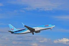 TUI Tompsons αερολιμένας της Αλικάντε αεροπλάνων Στοκ Εικόνες