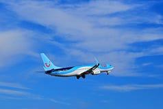 TUI Tompsons αερολιμένας της Αλικάντε αεροπλάνων Στοκ εικόνα με δικαίωμα ελεύθερης χρήσης