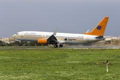 Tuifly die door Hapag Lloyd 737 in werking wordt gesteld Stock Foto's